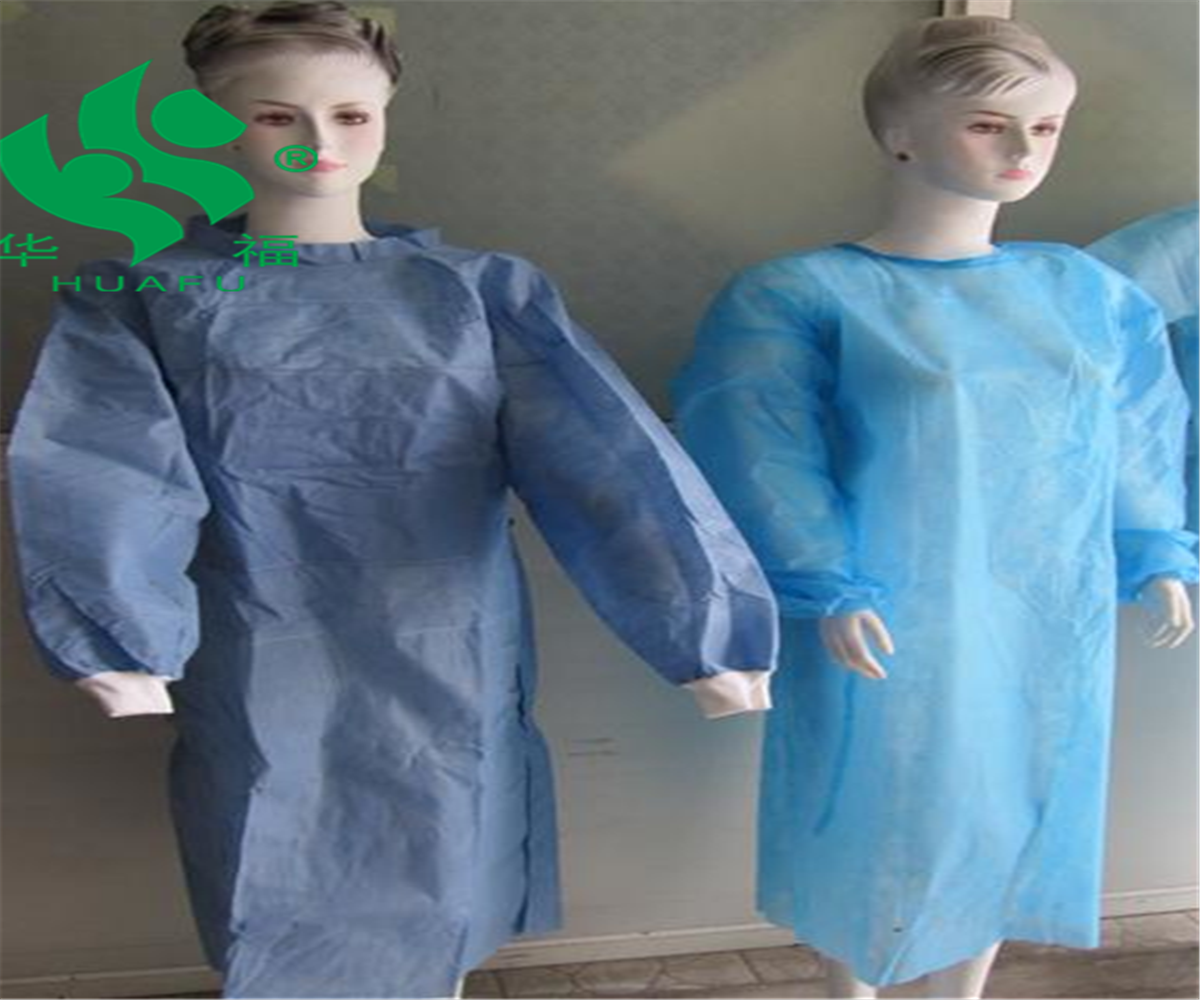 Disposable <strong>PP</strong>+PE isolation gown, long sleeve gowns