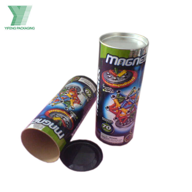 Cheap Paper Round Tube Gift box with Tin Cap