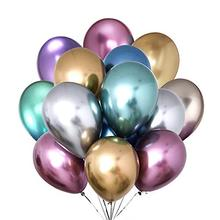 <strong>12</strong> Inch Latex Metallic Balloons chrome Pastel Pearl Color Chrome gold metallic Ballons For Party Decorations Globes in Jinhua