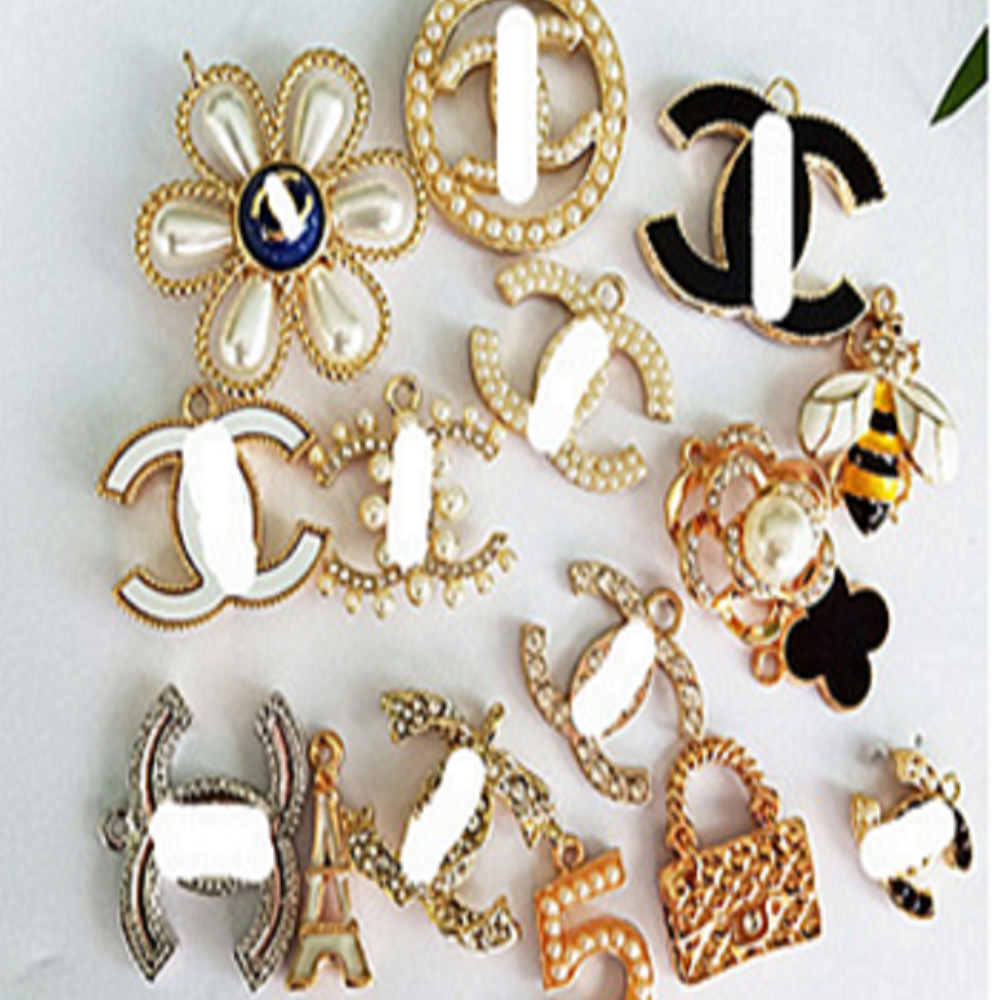 designer letter channel <strong>charms</strong> for diy bracelets jewelry making