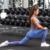 Custom logo apparel two piece set stock womens gym leggings bra yoga sports