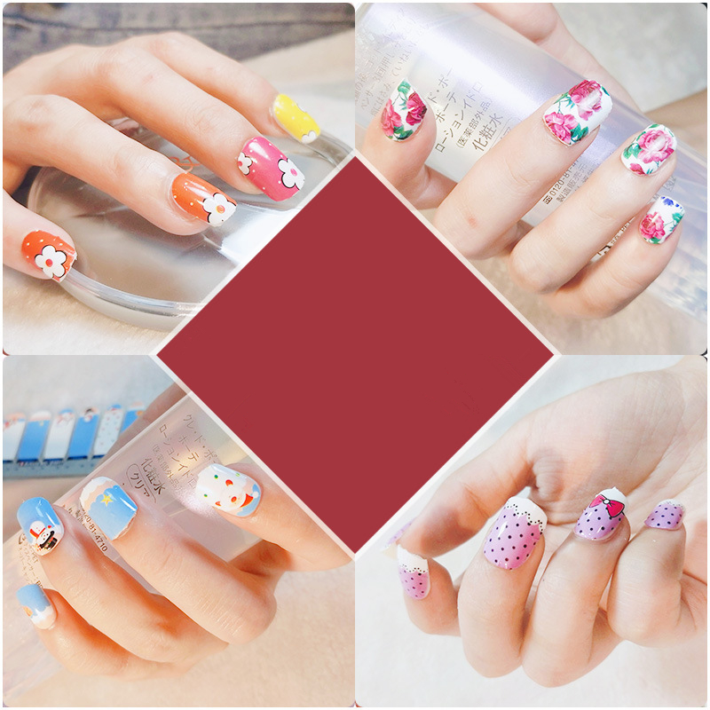 Salon Hallowmas Christmas Nail Art Stickers 14pcs/sheet Adhesive Tips Decoration Accessories DIY Nail Beauty Stickers
