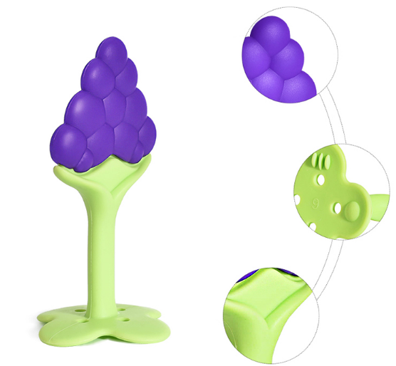 Silicone Fruit Shape Baby teether infant training  teether  Silicone molar stick