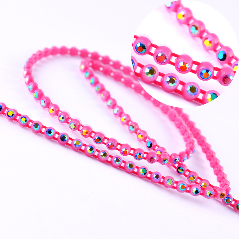 SS6/SS8 plastic rhinestone cup chain