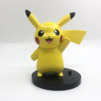 High quality Japanese anime Pikachu doll action toys ABS base