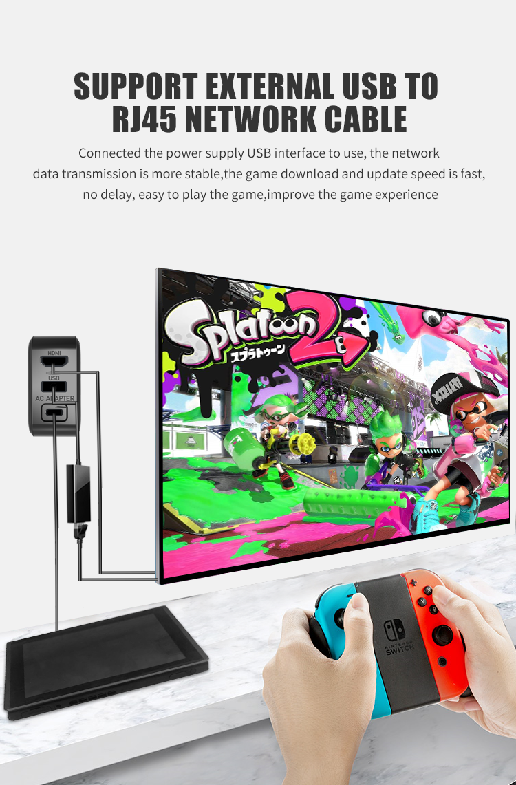Projection screen function Power Adapter portable type c gaming charger charging plug for Nintendo Switch controller