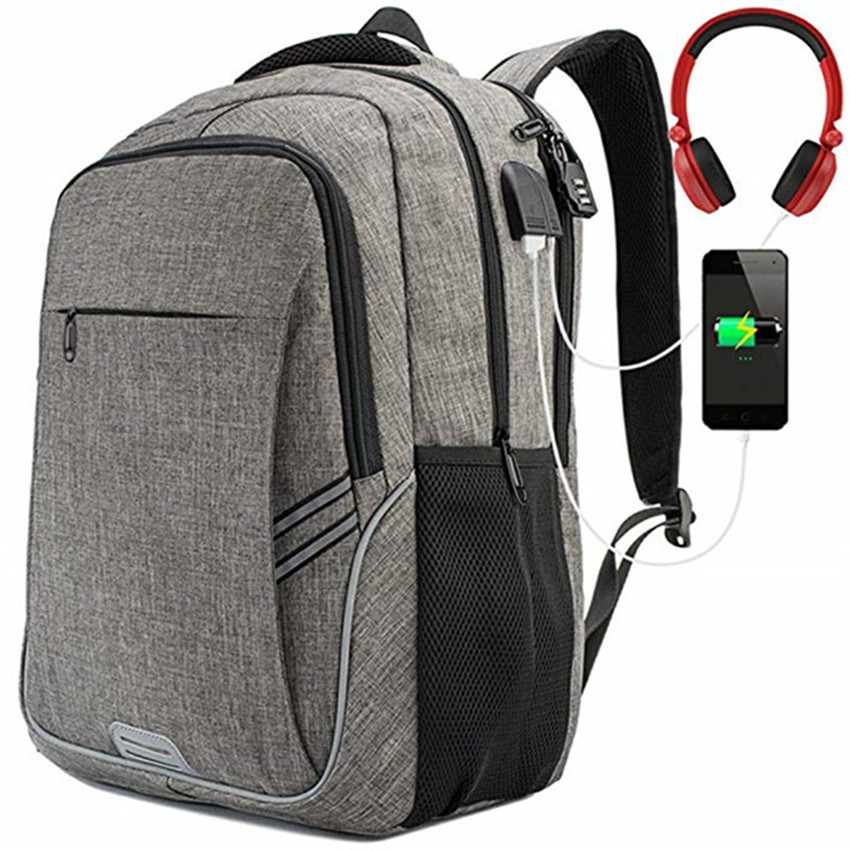 SW fashion waterproof mens business computer notebook bag wholesale laptop bags backpack <strong>17</strong> inch with charger