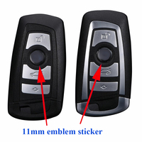 Top quality 11mm car key logo sticker, car control key logo, smart car key emblem