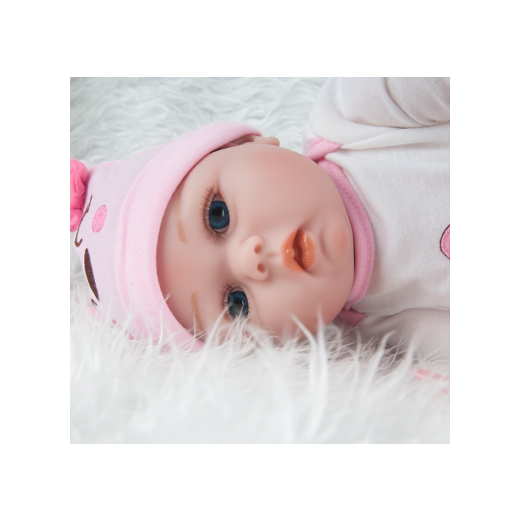 China factory wholesale price new model 55cm pink silicon doll realistic