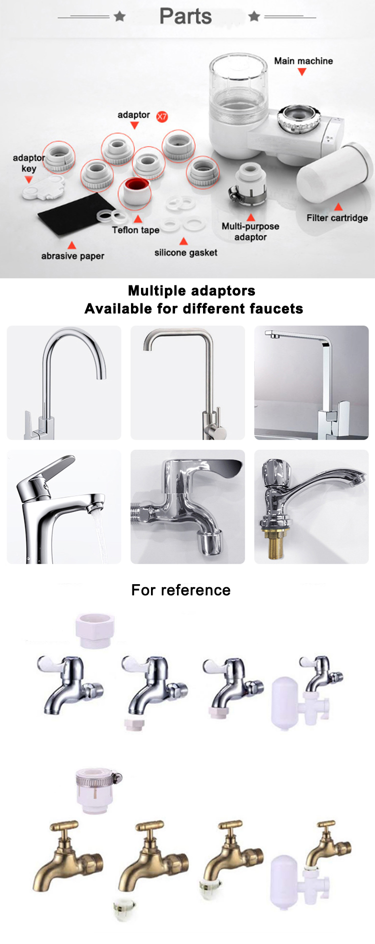 CY-Domestic replacement activated carbon faucet water filter water purification systems