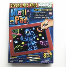 lazada ebay amazon hot product 3D Magic Erasable Drawing Pad battery powered led drawing light pad for <strong>kids</strong>