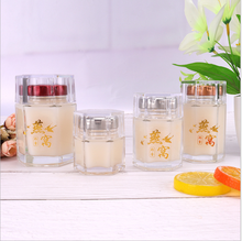 EU Food Grade Hexagonal Jar Glass Food Jar Glass Jam Jar Good Quality Glass <strong>Container</strong>