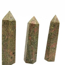 Natural tower obelisk healing Unakite <strong>point</strong> for sale