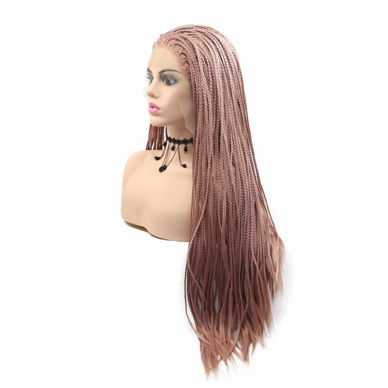 Eleganthair high quality synthetic braiding hair wigs with closure 12.5*3 lace front wigs for women