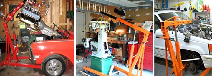 2 Ton Hydraulic Folding Engine Crane Stand Hoist Lift Jack with Wheels Workshop Hydraulic Use
