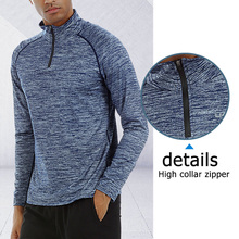 High Quality Mens Jackets Coats <strong>Sports</strong> Tops Fitness Wear 1/4 Zip Active Sweater Workout Gym Long Sleeve T Shirts