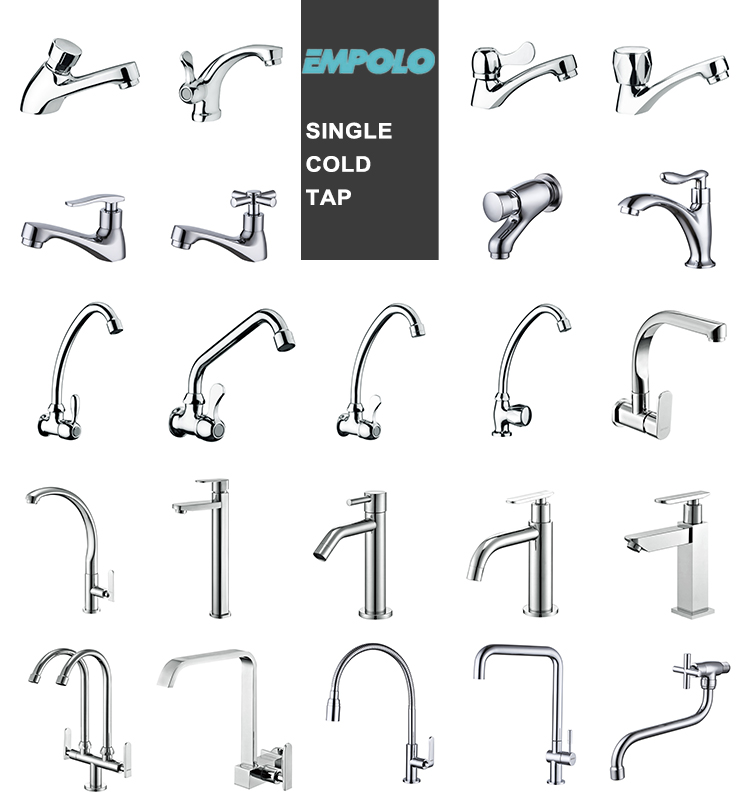 Cold Single Handle Water Faucets 360 Degree Swivel Cold Water Faucet