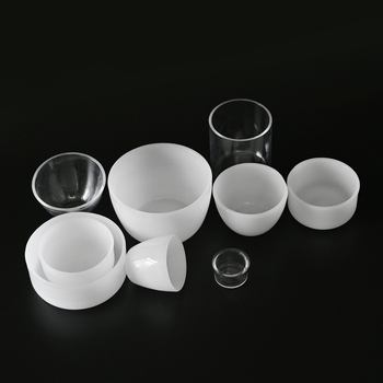 Customized High Purity Fused Silica Crucible Opaque Laboratory use Quartz Glass Crucible