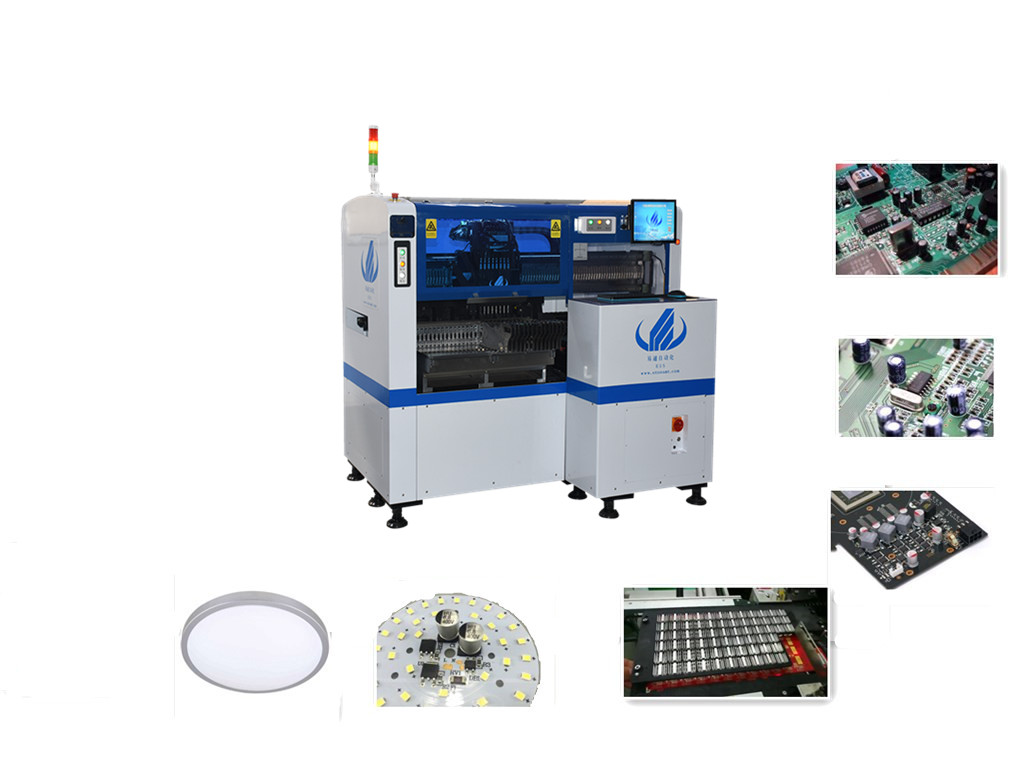 8 Heads Multi-functional Pick and Place Machine HT-E5S LED Placement Machine