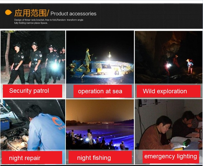 Factory direct sales plastic outdoor Portable Rechargeable small led torch flashlight