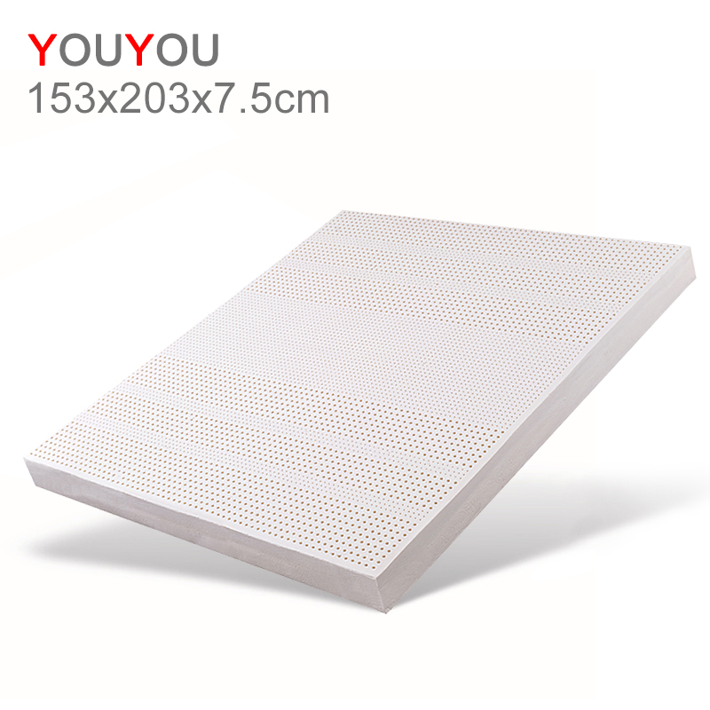 Custom Wholesale Hotel Thailand Natural Latex Mattress memory massage 153x203x7.5cm ergonomic small children Mattress - Jozy Mattress | Jozy.net