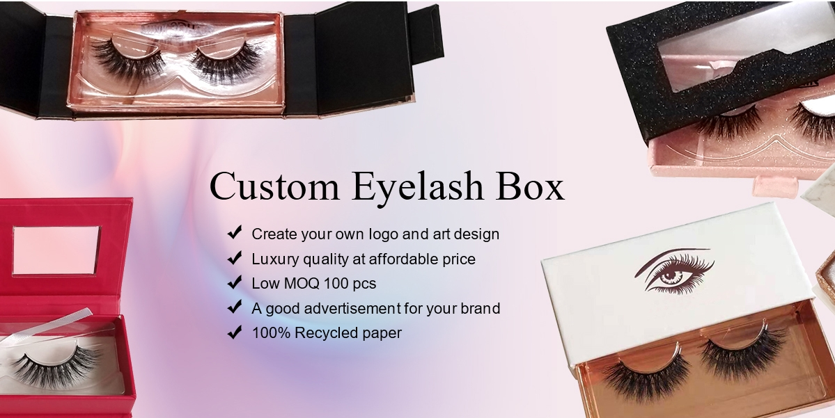 Private Label Custom Eyelash Case Eyelash Packaging Box
