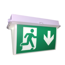 Arrow Emergency Fire Safety Exit Sign <strong>W</strong>/Emergency Light Red