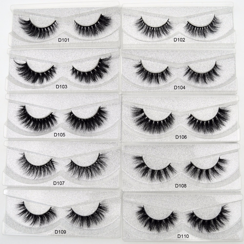 100% Real Mink False Eyelashes Cruelty free Handmade 3D Mink Lashes Full Strip Mink Lashes D series 22mm