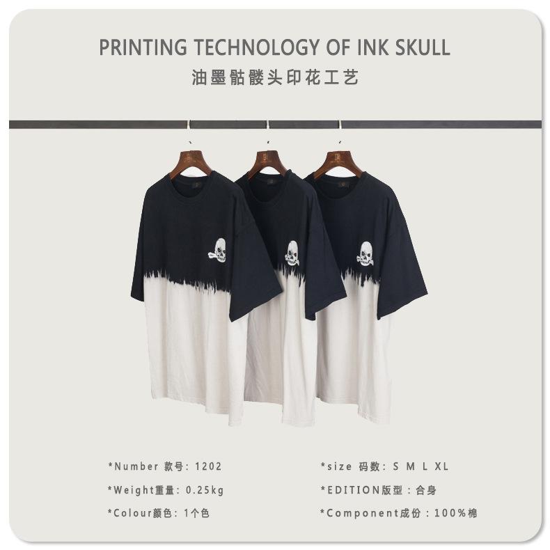 2020 Summer Tie dye hight street T shirt Sleeve Hip hop Unisex Tops Tees Men's and women's Funny T shirts Tie dye apparel