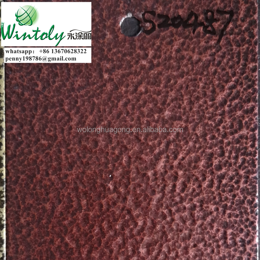 Bonding metallic antique red copper hammer powder coating