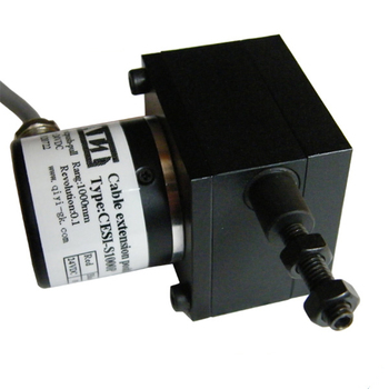 digital  absolute encoder displacement transducer CESI-S1000P 10-30v draw wire position sensor NPN OC output