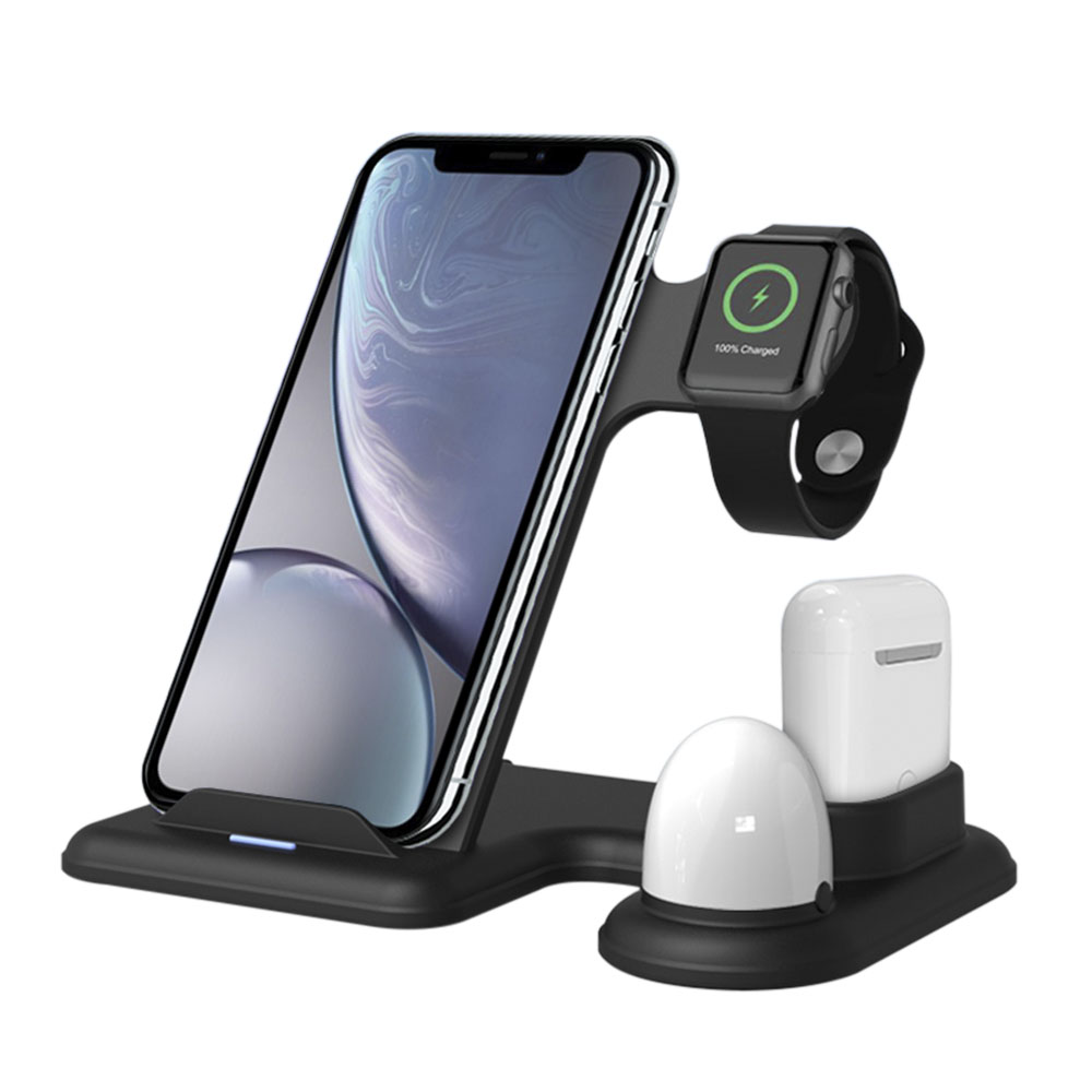 The Most Popular 3 in 1 Wireless Charging Kiosk, Support Small Quantity Order, Charger for Phone <strong>Watch</strong> and Earphone