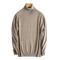 Solid color fashion stylish men turtleneck cashmere knitwear sweater with high quality