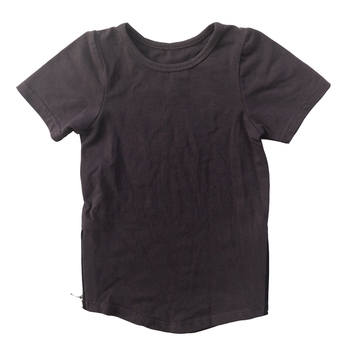 Baby wholesale custom OEM 100% cotton blank top short sleeve zipper infant toddler  T-shirt