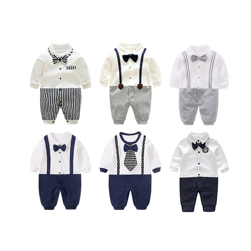 Newborn Clothing <strong>Baby</strong> Fashion 100% Cotton <strong>Baby</strong> Boy Romper Navy Strap neonatal clothing