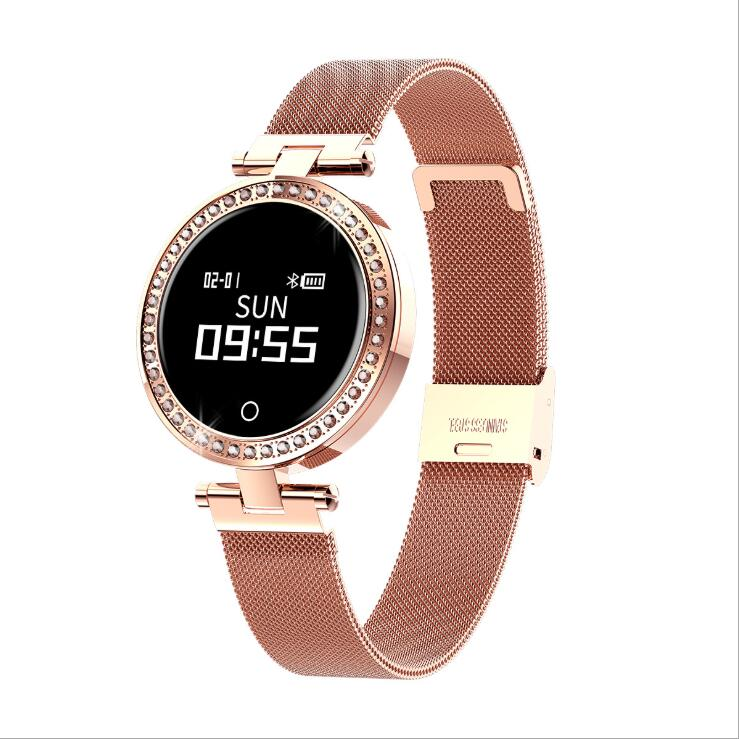 <strong>x10</strong> mental 0.66inch circle smart watch android women ladies for ladies heart rate sleep monitoring call WeChat push sports watch