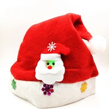 light up <strong>led</strong> felt christmas hat santa claus hat