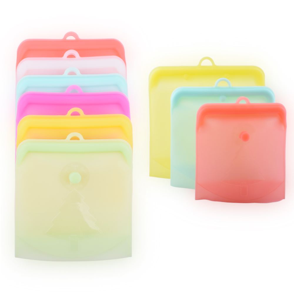Standard Reusable Silicone Fresh Vegetable Fruit Bags