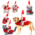 Hot Sale Dog Clothes Funny  Christmas Pet Costume Dog Christmas Clothes With Santa Claus Doll