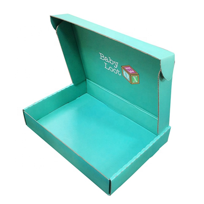 Custom low MOQ corrugated gift paper box