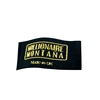 Factory Custom High Quality Black Background and Gold Logo Clothing Tags Neck Woven Labels