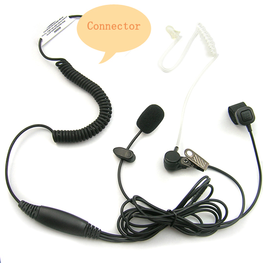 3 wires finger ring Clear Tube earpiece for walkie talkie/ two way radio/ cellphone[E110240]