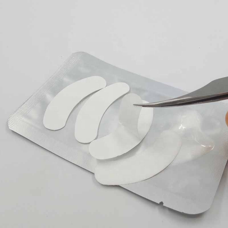Lint Free Hydrogel Non-irritating 2pairs/Bag Eyelash Extension Eye Patch White Color Eyelash Pads Eye Gel Patch