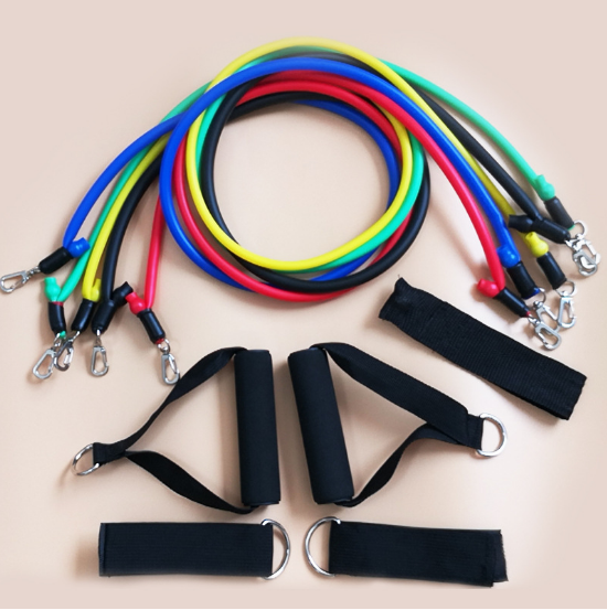 Popular 11pcs Resistance Band Set Pull Rope Exercises Bands indoor Tension Rope Home Gym Fitness Equipment