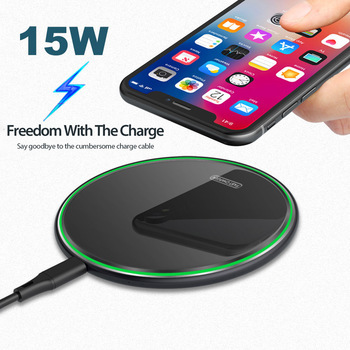 USB 15W Fast Wireless Charger For Samsung Galaxy S10 S9/S9+ S8 Note 9 USB Qi Charging Pad for iPhone 11 Pro XS Max XR X 8 Plus