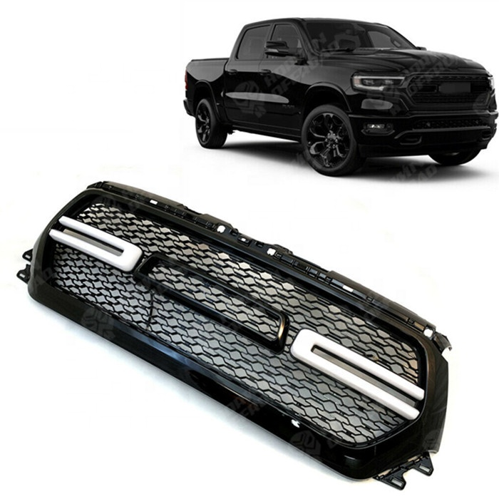Hot Sale New <strong>W</strong>/ LED Light Front Car Grills For RAM 1500 2019 2020 year