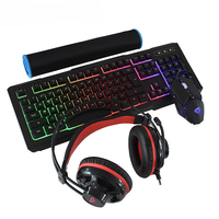 Gamers Combo Set Wired Gaming Keyboard Mouse Headset Mouse Pad Combos