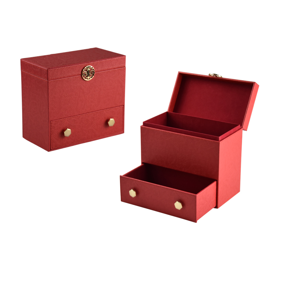 High quality red luxury wholesale cardboard mooncake packaging box