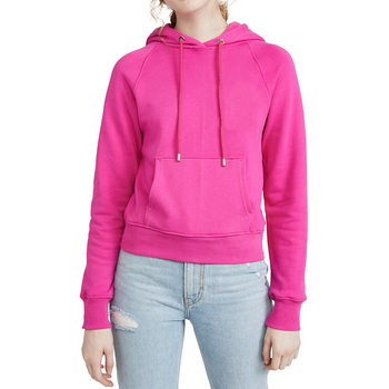 Wholesale Cheap Women French Terry Pullover Hot Pink Plain Hoodies