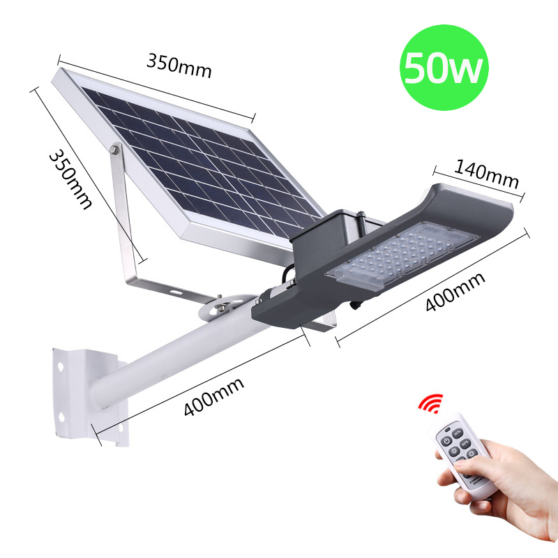 Road application waterproof ip65 50w integrated SOLAR LED STREET LIGHT all in one
